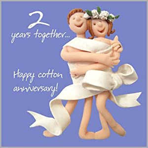 2nd Wedding Anniversary Ideas Cotton : personalised second anniversary card by button box cards ...