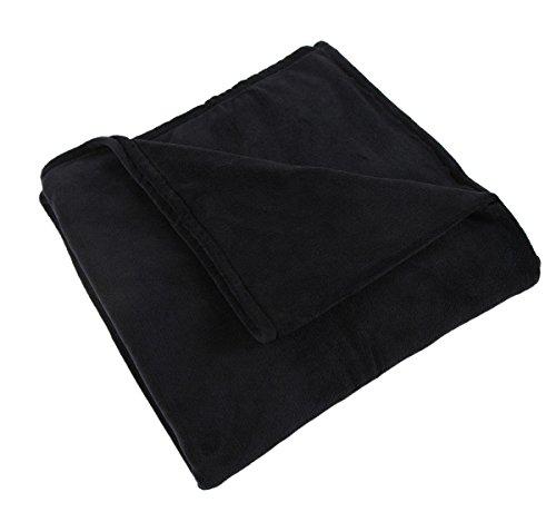 somewhere super warm wear resistant coral fleece blanket queen full size 90 x 90 inches black. Black Bedroom Furniture Sets. Home Design Ideas