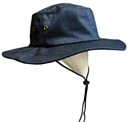 N\'ice Caps Boys Aussie Sun Hat with Eyelet Air Holes (1-2yrs(19.5\