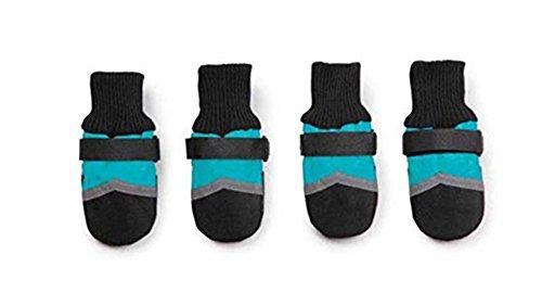 Nuovo Bello Portare-resistenza Impermeabile All Weather Tprotettivo Stivaletti Animale domestico Cane Scarpe (Colore rosa, verde, blu) (S, Blu)