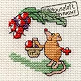 Mouseloft Mini Cross Stitch Kit Blackberrying Mouse Stitchlets Collection