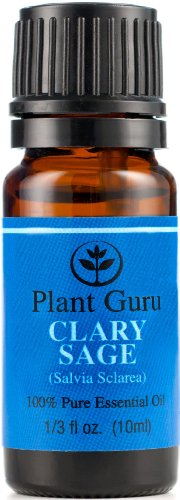 Clary Sage Essential Oil. 10 Ml. 100% Pure, Undiluted, Therapeutic Grade.