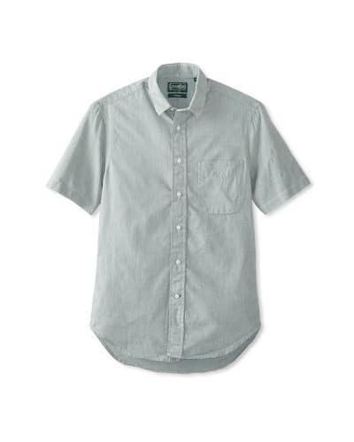 Gitman Vintage Men's Solid Cotton Short Sleeve Key Shirt