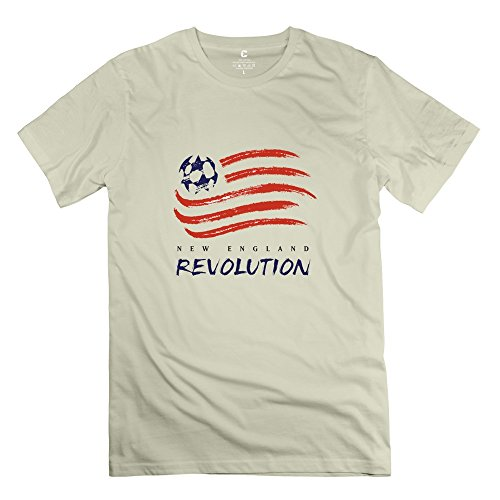 Leberts Natural New England Revolution 100% Cotton T-Shirts For Men's Size X-Small (Bunbury Box Set compare prices)