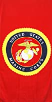 "United States Marine Corps Red Beach Towel USMC 30""x60"" from Leisureland"