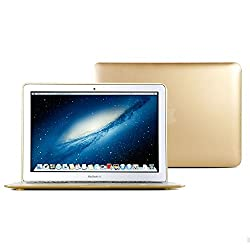 GMYLE Hard Case Metallic Color for Macbook Air 13 inch - Metallic Champagne Gold