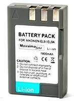 Maxsima - Batterie EN-EL9 et EN-EL9a pour Nikon D40 D40X D60 D3000 D5000 haute capacité! 1800mAh
