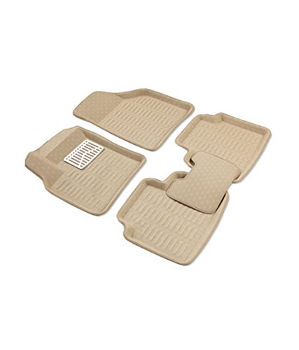 3D-Car-Floor-Mat-BEIGE-Set-Of-3-for-HYUNDAI-I-20-ELITE