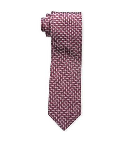 Bruno Piattelli Men's Classic Neat Tie, Burgundy