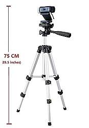 Medium Camera Tripod Mount Holder Stand for Logitech Webcam C930 C920 C615 C310-Silver