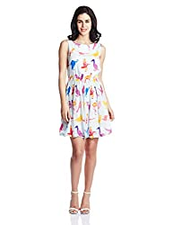 Quirk Box Women's Skater Dress (20WBBD_Multicolor_X-Large)