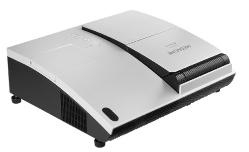 Hitachi Cp-A52 Xga 2,000 Lumens Ultra Short Throw Projector With Side Mounted Hybrid Filter (Silver)