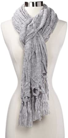 Vince Camuto Women's Honeycomb Scarf, Grey Heather, One Size