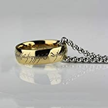 buy Etosell The One Ring Stainless Steel Lord Of The Rings Bilbos Hobbit Gold Ring Chain ,Ring Width:6 Mm;Size:Us # 6