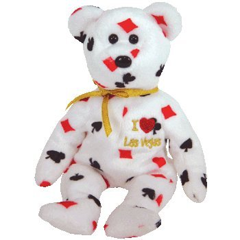 TY Beanie Baby - LAS VEGAS the Bear (I Love Las Vegas - City Exclusive) - 1