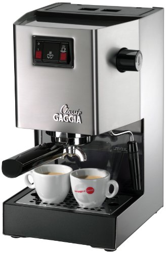 Gaggia Classic RI8161 Coffee Machine with Professional Filter Holder, Stainless Steel Body