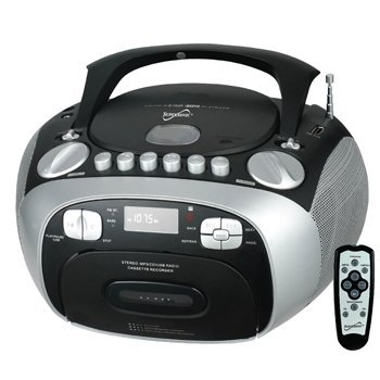 Supersonic SC-768 MP3/CD Player with USB/AUX Inputs, Cassette Recorder & AM/FM Radio