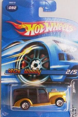 Hot Wheels 2005 '40s Woody Pin Hedz 2/5 BLACK #92 - 1
