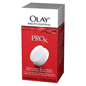 Olay Professional Pro-X Replacement Brush Heads, 2 Count (Pack of 2)