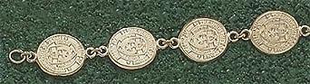 Texas Longhorns Oval Seal 7.5 Bracelet - 14KT Gold Jewelry by Logo Art
