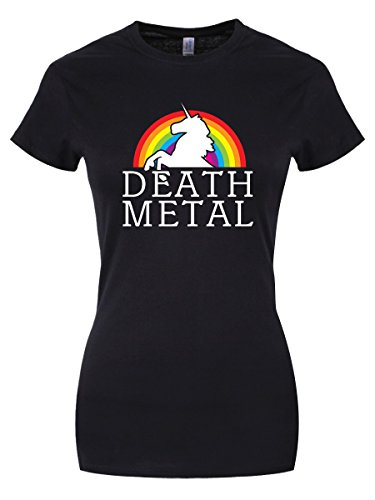 T-shirt Death Metal da donna in nero