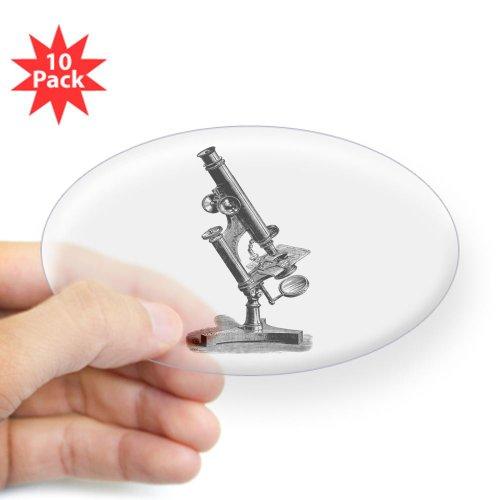 Cafepress Vintage Microscope Sticker Oval 10 Pk - Standard