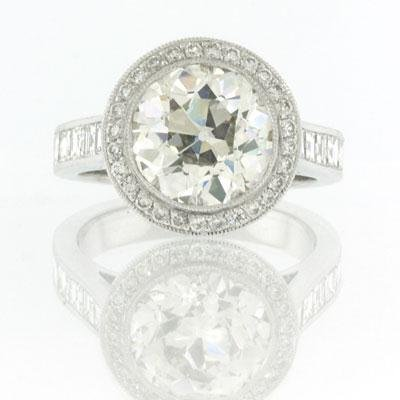7.09ct Antique European Round Cut Diamond Engagement Anniversary Ring
