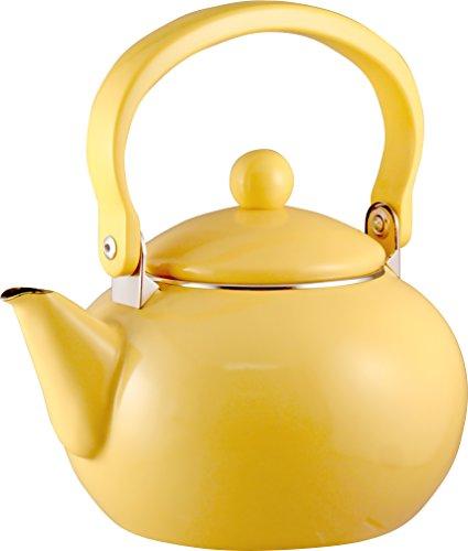Calypso Basics 2-Quart Enamel-on-Steel Tea Kettle, Lemon Yellow (Vintage Tea Kettle compare prices)