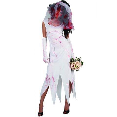 Zombie Braut Horror Verkleidung Frauen Halloween Karneval Party Kostüm 42-44