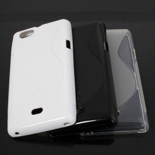 3in1 Zubehör Set Silikon TPU Case Tasche Hülle Schutz für Sony xperia miro St23i backcover 31050005
