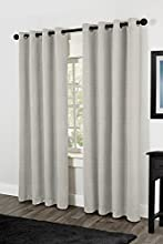 Exclusive Home Raw Silk Thermal Grommet Top Window Curtain Panels, Off-White, Sold As Set of 2/Pair