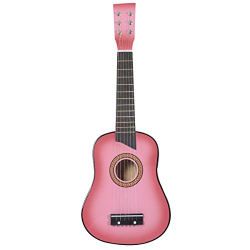 Goplus-25-Pink-Beginners-Kids-Acoustic-Guitar-6-String-with-Pick-Children-Kids-Gift