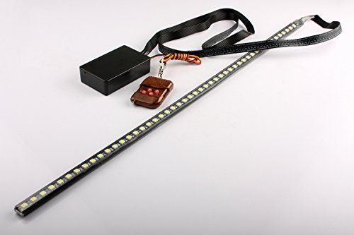 Brand New 56Cm 48 Led Car Strip Knight Rider Light Flash Waterproof White