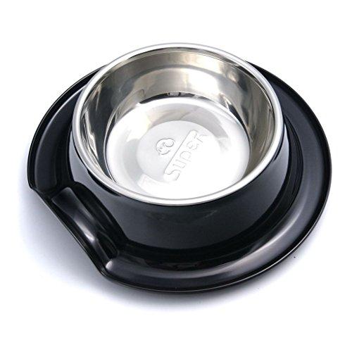 Bild: superdesign Schale aus Edelstahl in Melamin Ständer für Hund oder Katze