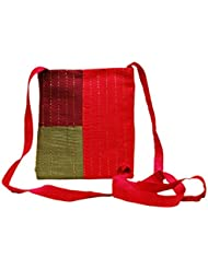 Clean Planet Multi Color Dupion Handcrafted CasualSling Bag