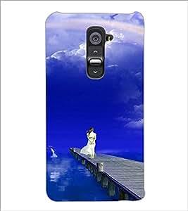 PrintDhaba Stranded Girl D-3286 Back Case Cover for LG G2 (Multi-Coloured)