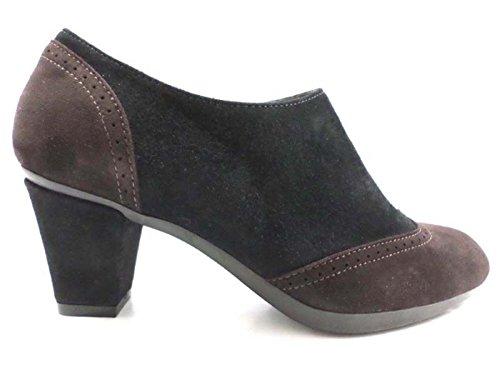 scarpe donna GUIDO SGARIGLIA 35 EU tronchetti nero camoscio AY114