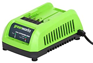 GreenWorks 29702 Lithium Ion Battery Charger for New Enhanced Batteries, 24-Volt