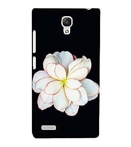 Fuson Premium Back Case Cover White floral With black Background Degined For Xiaomi Redmi Note::Xiaomi Redmi Note 4G