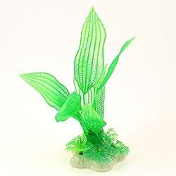 6.3Height Mesh Pattern Plastic Aquatic Green Plant for Aquarium