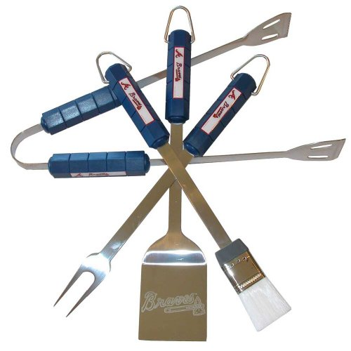 Atlanta Braves 4 Piece BBQ Tool Set