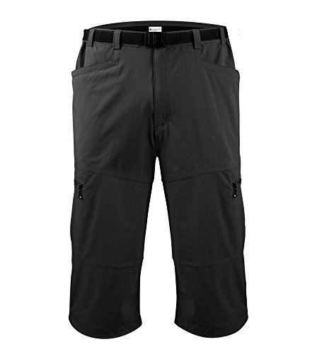 Men's Bicycle Commuter Urban Pedal Pusher Knickers w Zippered Pockets, Stretch Woven