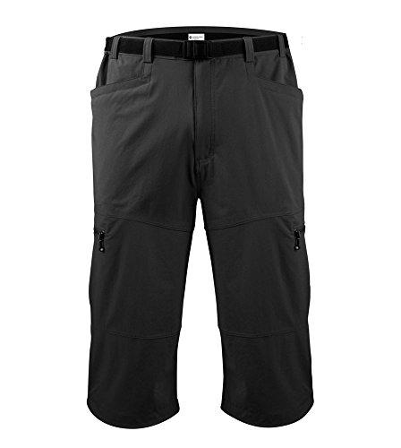 Men'S Urban Pedal Pusher Knickers W Cargo Pockets X-Large Black