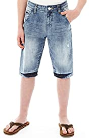 Pure Cotton Ripped Denim Shorts