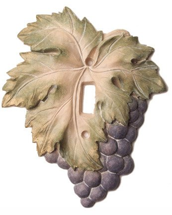 Switch Plate Grape Kitchen Decor or Wine Cellar Light Switch Plate Cover
