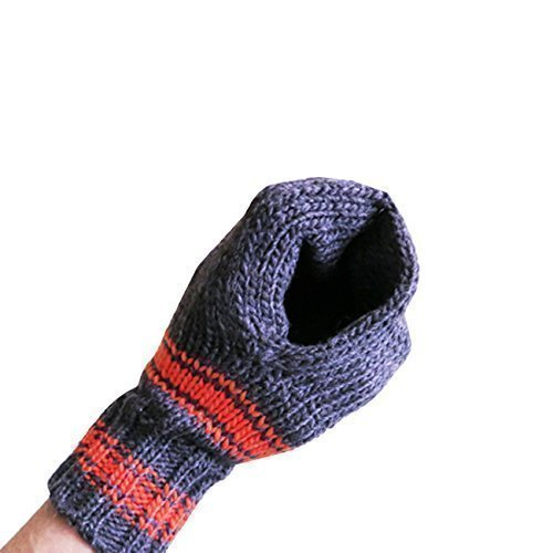 Suzy Kuzy Beer Mitt (OFFICIAL) - Knit Beer Mitt :: Blue / Orange
