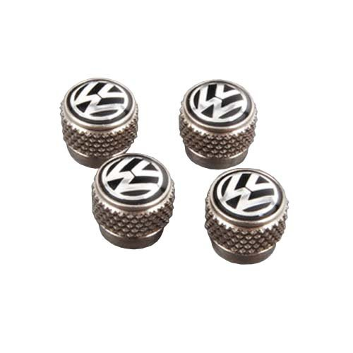 Genuine VW Nickel Plated Wheel Tire Aluminium Valve Stems Caps 4 pcs 000071215 (Volkswagen Beetle Tires compare prices)