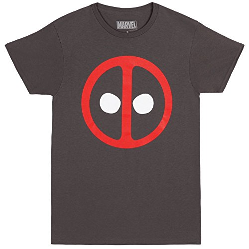Deadpool Icon Logo Adult T-shirt - Charcoal (X-Large)