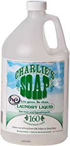 Charlie's Soap Laundry Liquid - 1 Gal Jug - (160 Loads)