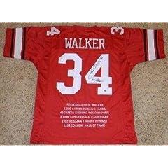 Herschel Walker Autographed Jersey - #34 Stat + 82 Heisman - Autographed College...